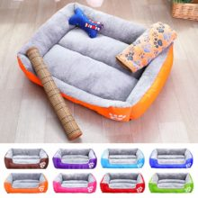 Dogs Waterproof Bottom Soft Fleece Warm Bed