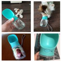 Portable Pet Dog Cat Travel Water Bottle Bowl