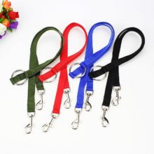 WALK 2 Two DOGS Leash Nylon Double Dual Two Pets Dogs Leash 2 Way Coupler Walk Necklace Dogs Collars Harnesses Leads Pets