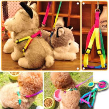 prativerdi  1 PCS Adjustable Rainbow color Pet Dog Leash Small Puppy Cat Rabbit Kitten Nylon Leash Harness Collar Lead
