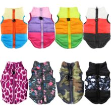 Quilted padded warm winter puppy dog jacket coat